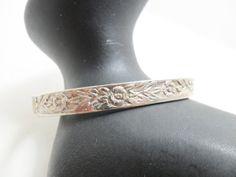Vintage Bracelet / Bangle Sterling Silver Mexico 14 by KathiJanes, $19.95