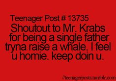 Good luck Mr. Krabs