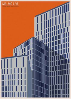 Andre Chiote architecture poster.  Schmidt Hammer Lassen Malmo Live