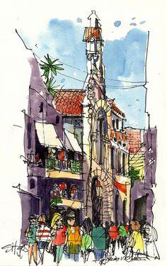 Sitges street scene 1 | by James Richards fasla