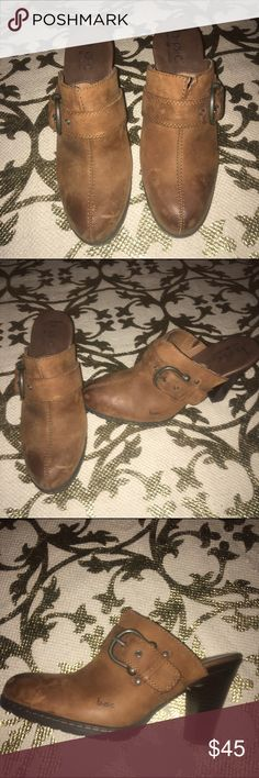 BOC Born Concept Brown Buckle Mule Heels These cute BOC Born Concept Brown Buckle Mule Clog Heels!!! Nordstrom Shoes Mules & Clogs