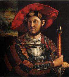 Girolamo da Carpi. Ritratto di capitano estense, 1518 circa.