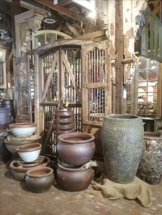 Beautiful pots and planters and urns as well as architectural salvage at Palladio Garden: 741 S. Cox, Memphis 38104