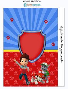 "Kit Digital Aniversário ""Patrulha Canina"" - Convites Digitais Simples"