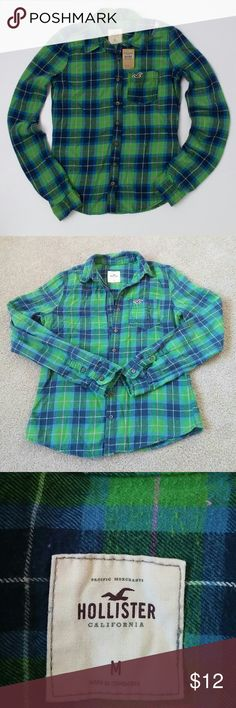 Hollister flannel shirt Gently worn but still in good condition from smoke free and pet free home Hollister Tops