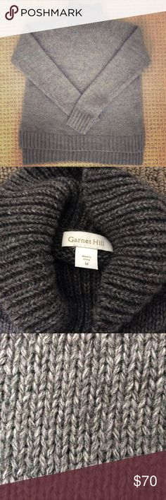 *Garnet Hill* Turtle Neck Grey Sweater Garnet Hill  M  Grey  50% Acrylic 50% Wool Blend  Worn Once!  Hey,   Thanks for looking! If you have any questions please feel free to contact me!☀️ Garnet Hill Sweaters Cowl & Turtlenecks