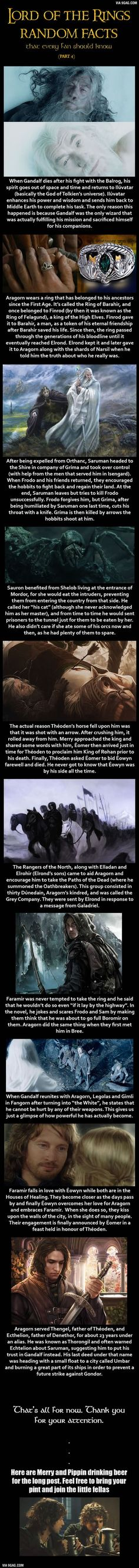 Here are some Lord of the Rings random facts (Part 4):