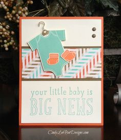 "January 23, 2015 Tara has asked us to create a baby card with sweet colors at the Friday Mashup #194 this week.  This week's Mashup Challenge is: Create a project with a ""Baby Theme. ""Create a proj..."