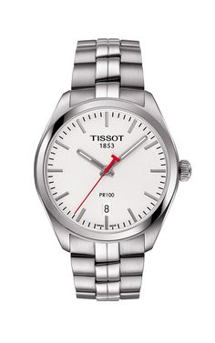 Elevate your #spring style with a polished stainless steel #Tissot watch! #TheDiamondRingCo http://www.thediamondringcoonline.com/Tissot-Watches/PR-100/T1014101103101/16002269/EN