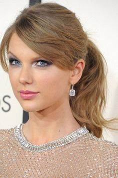 Taylor Swift: take it from T-Swift, diamonds & silver will make any ponytail red-carpet worthy