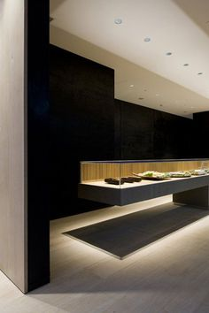 Suzukake Honten, a Japanese Interior Pastry Shop with Japanese Black in Silence by Case-Real