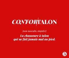 Confor/talon : la chaussure à talon qui ne fait jamais mal au pied. Les Princes existent.. au rayon biscuits. #quote #citation