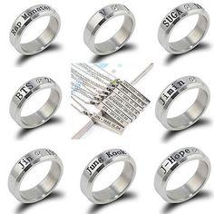 2f99f2bc024f Details about KPOP Bangtan Boys BTS JUNGKOOK V JHOPE JIN JIMIN SUGA RAP  MONSTER NECKLACE Ring