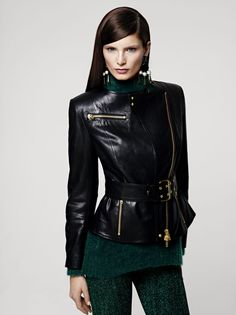 [H Fall 2012 Lookbook] I loved pairing bright emerald with black and white in spring/summer, and I'm loving this darker emerald shade with black for fall/winter.