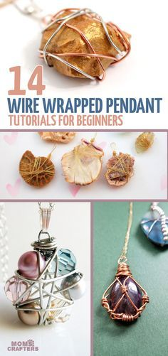 Diy jewelry making - How to Wire Wrap a Pendant 14 Cool Ideas! – Diy jewelry making Diy Jewelry Rings, Diy Jewelry Unique, Diy Jewelry To Sell, Wire Jewelry Making, Wire Jewelry Designs, Diy Jewelry Tutorials, Beaded Jewelry, Pendant Jewelry, Jewellery Box