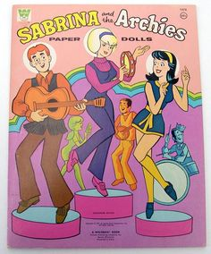 Vintage Whitman Sabrina The Teenaged Witch Archies Paper Dolls 1971