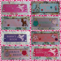 Teenage girls personalised bedroom door Name plaque Name sign. Any colours Any Name Teen Teenagers Gift Unicorn butterfly deer rainbow sign by FairylandDecor on Etsy Bedroom Door Signs, Bedroom Doors, Door Plaques, Name Plaques, Concertina Doors, Cardboard Letters, Unicorn Bedroom, Pink Owl, Name Signs