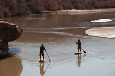Paddle Boarding in Moab.