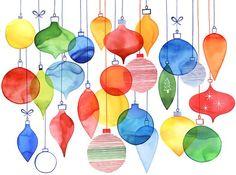 Watercolor Christmas Ornament | Ornaments, Christmas ornament and Xmas ornaments on Pinterest