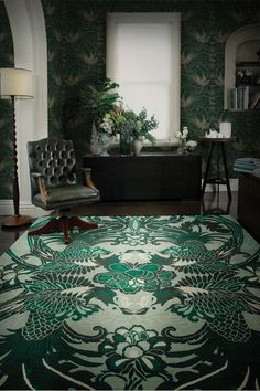 An adaptation of this Night Bird rug from the Deco Collection by Catherine Martin will feature in The Great Gatsby. Art Deco Rugs, Estilo Art Deco, Art Nouveau, Rug Company, Interior Design Inspiration, Interior Ideas, Design Ideas, Floor Rugs, Decoration