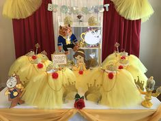 Discount Beauty and the Beast Princess theme party supplies to help you create the perfect birthday celebration. Rose trimmed yellow Tutus, Tiaras, Wands, Crafts, Games and so many more ideas are what you will find at My Princess Party to Go.