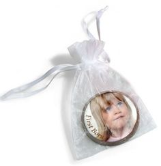 Large Organza Image Chocolate Coin Bag