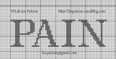 Cross stitch *♥* Point de croix PAIN (Bread)