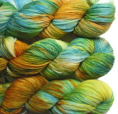 Hand Dyed Sock Yarn fingering weight 4ply superwash by LismiKnits, $20.00