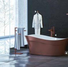 Blog da Revestir.com: Cor na banheira! A nova coleção Doka Cores , da marca luxo Doka, especializada em banhos diferenciados, deixa cada ambiente único através das combinações de cores e acabamentos metálicos , trazendo requinte e diferenciação ao banho.   Para suas banheiras, a marca traz na Coleção 2017 bela gama de opções de cores -  Black, Gold, Rose Gold e ORB (Oil Rubbed Bronze)