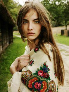 hippie • bohemian girl in wrap shawl • pashmina • boho • gypsy • mystic earth home