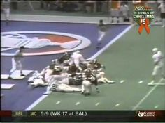 The famous Goal Line Stand in the 1979 Sugar Bowl  when Alabama beat Penn State 14-7.