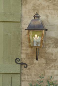 The 'Atlas' Gas & Electric Wall Mount Lantern - Carolina Lanterns