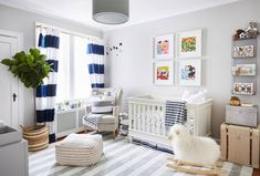 """Homepolish on Instagram: """"If this nursery doesn't make you want to revert ALL the way back to square one (of like, your life), then we don't know what to tell you/how to help you/who you even are or why any of us are even here. Hoping @brooklynblonde1 lets us crash here for just a minute before her baby arrives and ruins our chances ;) #moveoverbaby // Check out Helena's full home tour via the [LINK IN PROFILE✨]. Design by @matthewcanedesigns of #HomepolishNYC + photo by @matt_harrington."""""""