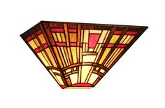 """HOPKINS, 1 Light Tiffany-style Mission Wall Sconce 12"""" Wide"""