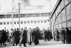 "RMS ""Olympic"", Arrival in New York."