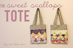FREE Sewing Pattern: FREE Sweet Scallops Tote Pattern from see kate sew Designer via @Craftsy. FREE tutorial here: http://seekatesew.com/the-sweet-scallops-tote-pattern/