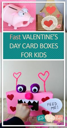Fast Valentines Day Card Boxes for Kids Valentines Day Boxes Kid Stuff DIY Kid Stuff Kid Crafts Fast Valentines Day Card Boxes for Kids Valentines Day Boxes Kid Stuff DIY Kid Stuff Kid Crafts Creating Romance on nbsp hellip Valentine Boxes For School, Kinder Valentines, Diy Valentines Cards, Valentine Crafts For Kids, Valentines Day Activities, Homemade Valentines, Kid Crafts, Printable Valentine, Valentine Wreath