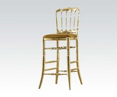 Show details for Gold Finish Bar Chair
