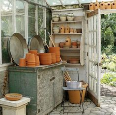 Organized potting shed