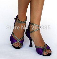 Pas cher les femmes gros satin violet ballroom latin salsa danse chaussures chaussures de danse salsa dancing shoes toutes les tailles, Acheter  Chaussures de dans de qualité directement des fournisseurs de Chine:matériaux:satinsemelle:suèdehauteur du talon:4 pouces 3,5 pouces, 3 pouces, 2,5 pouces, 2 pouces( peut personnalisé talo