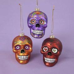 Christmas decorations skull