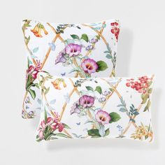 BAMBOO AND FLOWER PRINT LINEN CUSHION - Cushions - Decoration | Zara Home United Kingdom