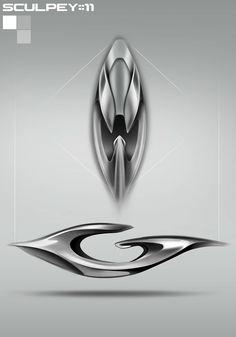 Racing interior sculpture on Behance