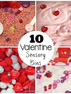 Top 10 Valentine's Day Sensory Bins | Still Playing School