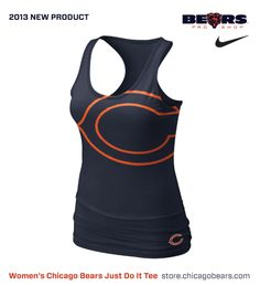 New Women's Chicago Bears NikeTri NFL Big Logo Tank. Available Now!