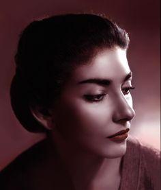 Maria Callas - hand colored by Angus McBean http://sisterwolf.tumblr.com/