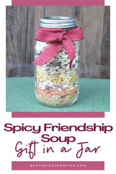 Gifts in Jars are ever so popular, and for good reason! They're usually practical gifts and when the gift has been uses, you still have a handy jar! This DELICIOUS soup is just such a tasty and pracical gift! Recipe Boards, Friendship Gifts, Practical Gifts, Jar Gifts, Hostess Gifts, Allrecipes, Mason Jars, Spicy, Arts And Crafts