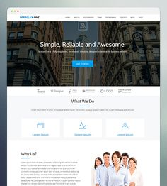 Parallax One is a free modern responsive one page parallax template with a strong focus on simplicity.