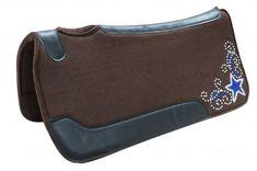 "Showman 32/""x32/""x1/"" SADDLE PAD Contoured Kodel Fleece Bottom Suede Wear Leather"