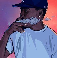 chance the rapper image Arte Do Hip Hop, Hip Hop Art, Dope Cartoons, Dope Cartoon Art, Trill Cartoon, Art Pop, Trill Art, Dope Wallpapers, Iphone Wallpapers